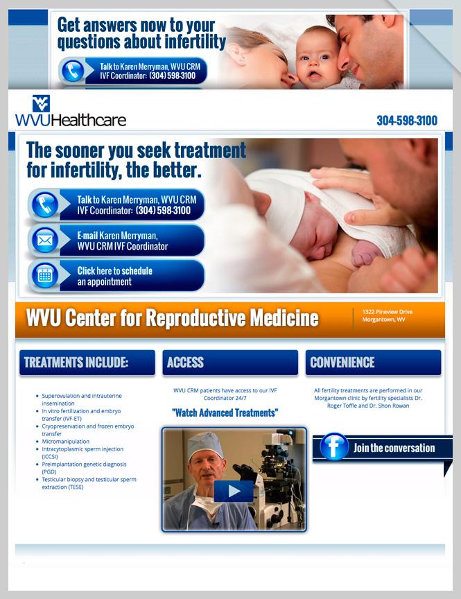 WVU-CRM Multiple Landing Pages