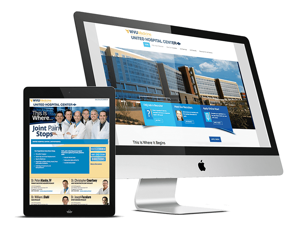 The New United Hospital Center's Healthcare Recruitment Website
