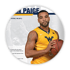 Basketball Program Cover and Player Page
